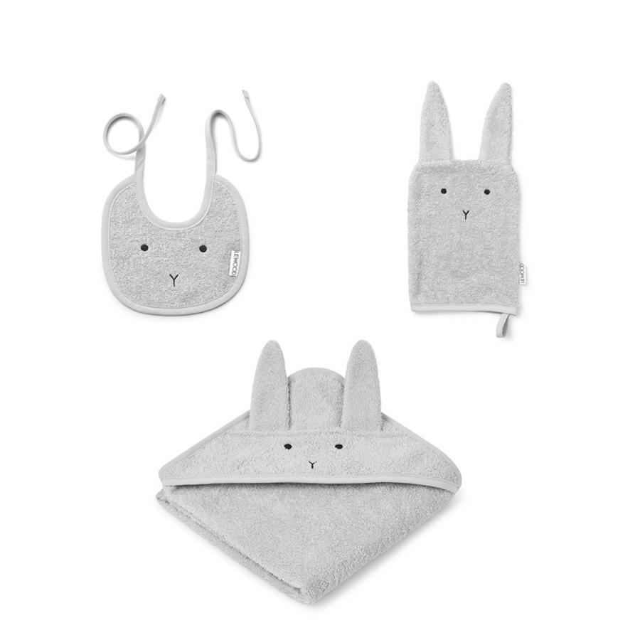 "Baby Frottee Set ""Adele Rabbit Dumbo Grey"""