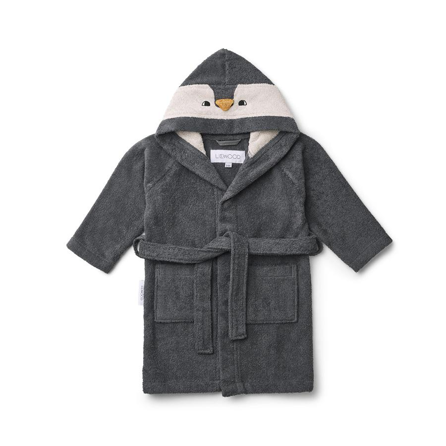 "Bathrobe ""Lily Penguin Stone Grey"""