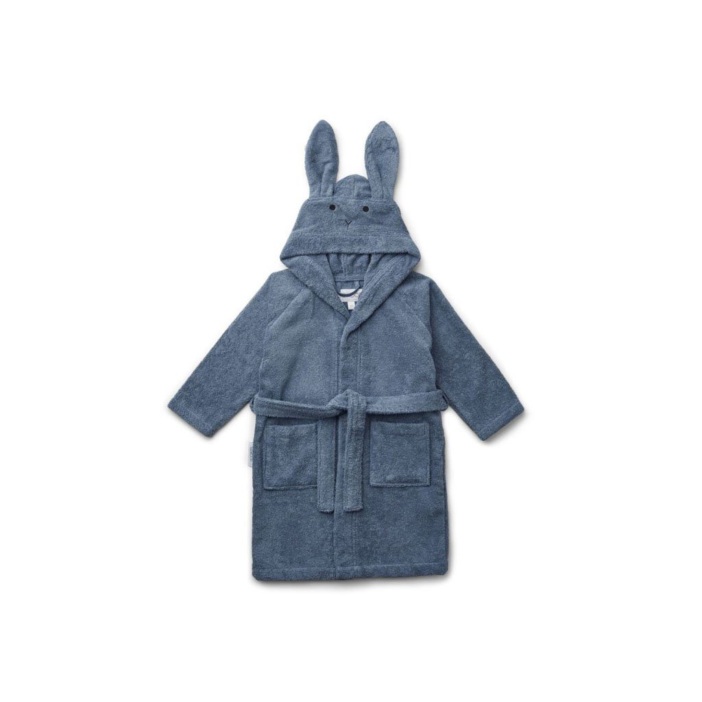 "Bathrobe ""Lily Rabbit Blue Wave"""