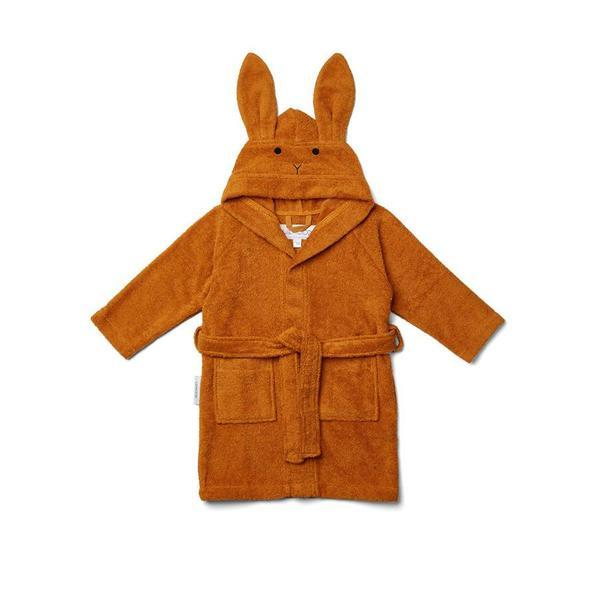"Bathrobe ""Lily Rabbit Mustard"""