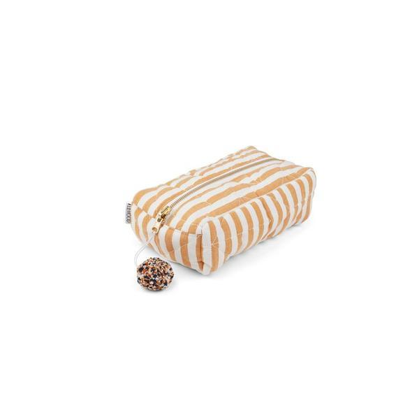 "Beauty Purse ""Beate Stripe Mustard / Creme de la Creme"""