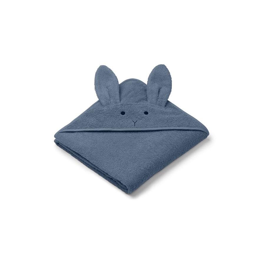"Hooded Towel ""Augusta Rabbit Blue Wave"""