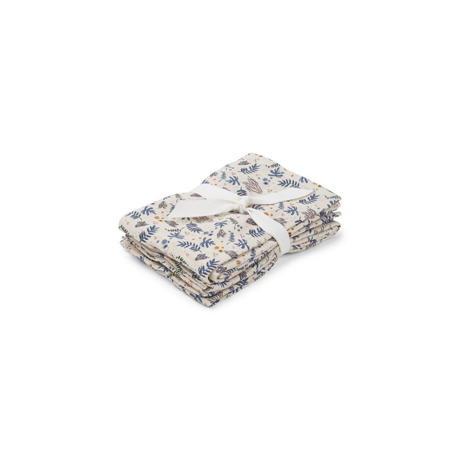 "Muslin Cloth ""Hannah Coral Floral / Mix"" Pack of 2"