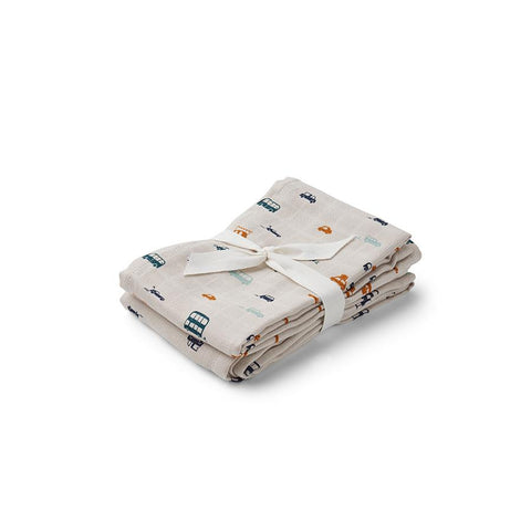 "Muslin Cloths ""Cars"" 2Pack"