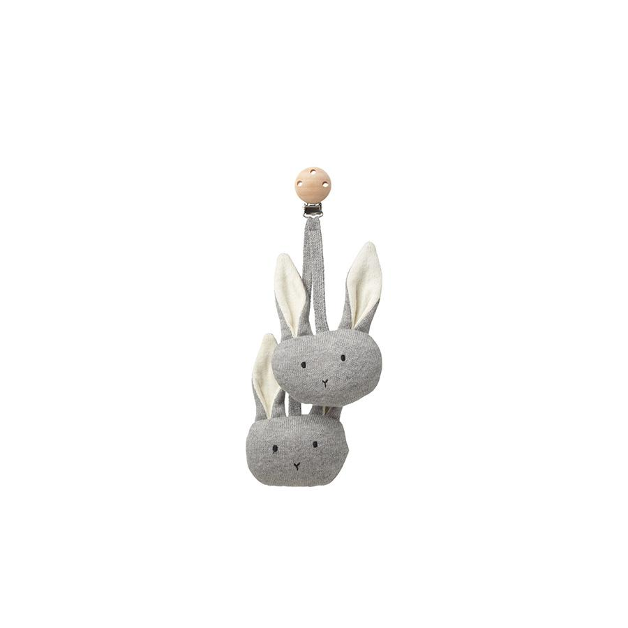 "Pram Toy ""Rabbit Grey Melange"""
