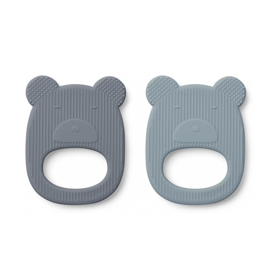 "Teether ""Geo Mr. Bear Blue Mix"" Pack of 2"