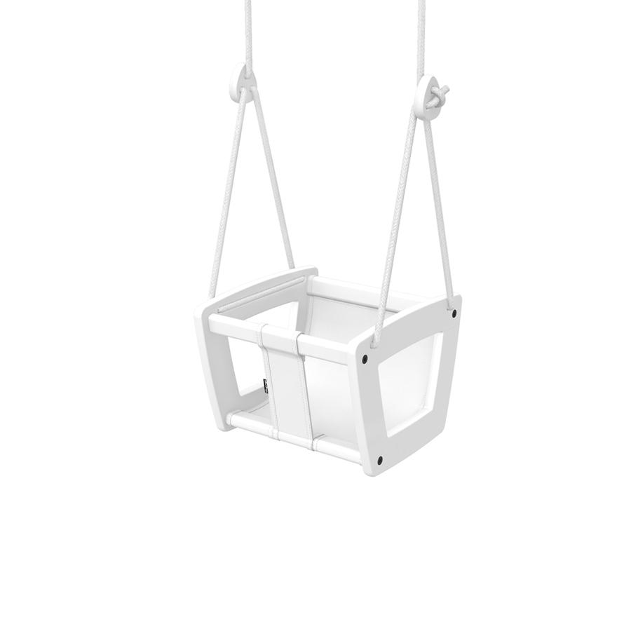 "Baby Swing ""Toddler Birch White Seat and Ropes"""