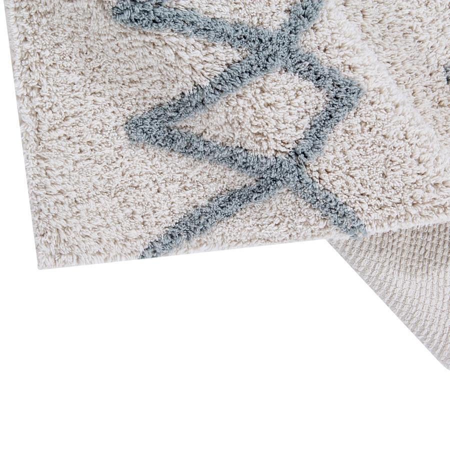 "Washable Carpet ""Atlas Natural Vintage Blue"""