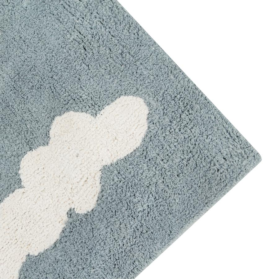 "Washable Carpet ""Clouds Vintage Blue"""