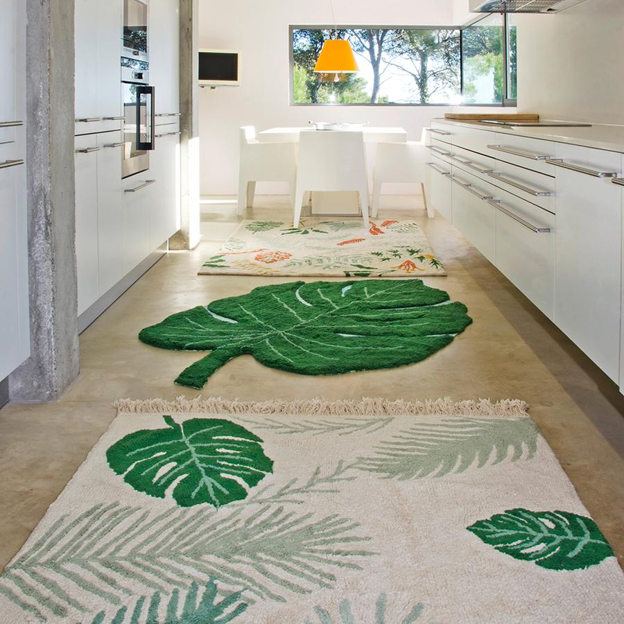 "Washable Carpet ""Tropical Green"""