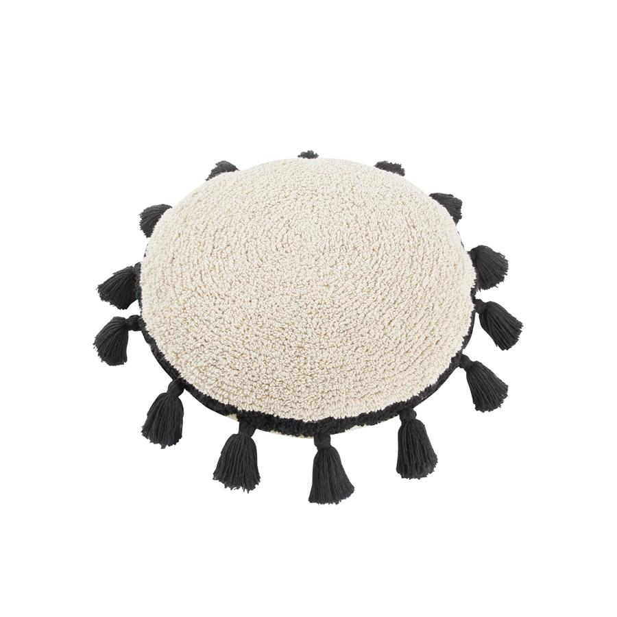 "Washable Cushion ""Circle Black"""
