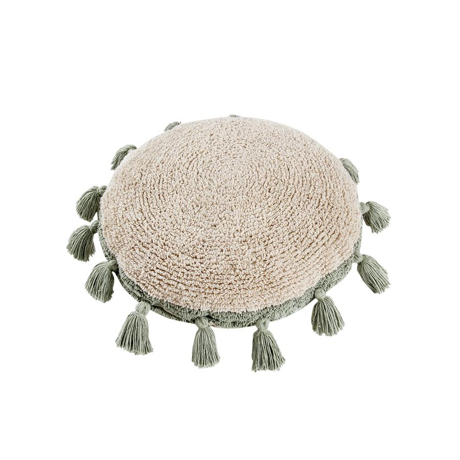 "Washable Cushion ""Circle Green"""