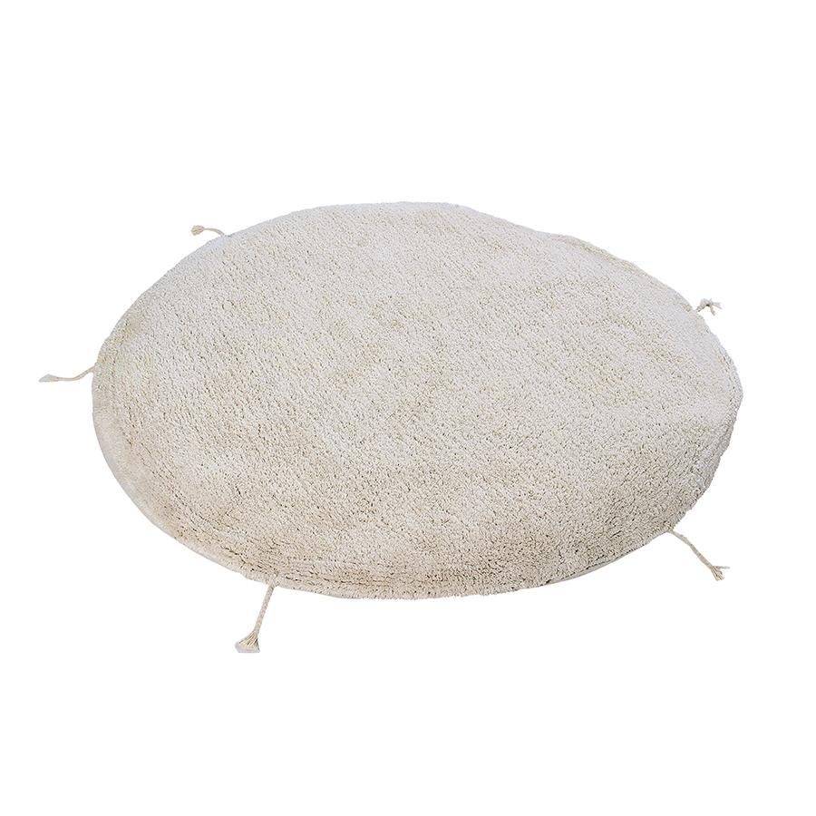 "Washable Seat Cushion ""Sleepover Pouffe Lou Natural"""