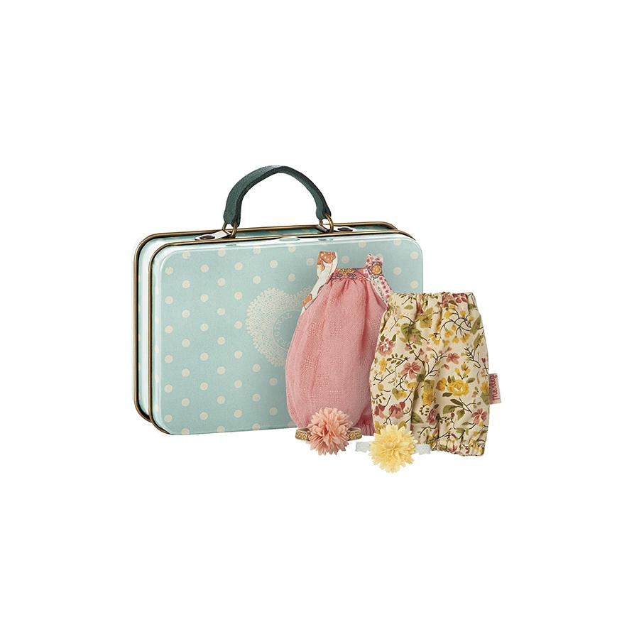 "Doll house suitcase ""Micro with 2 Dresses for Girls"""