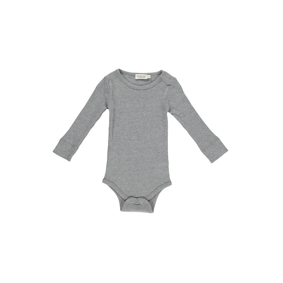 "Long-sleeved Body ""Gray Melange"" simple"