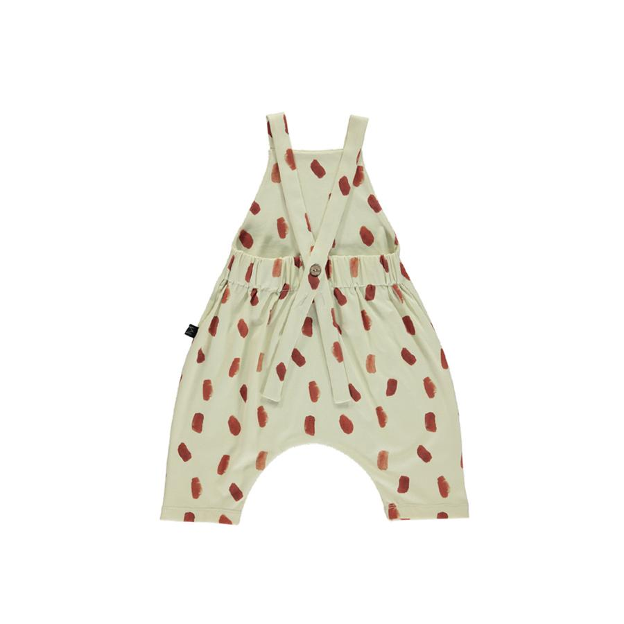 "Dungarees ""Brick Dot"" with short legs"