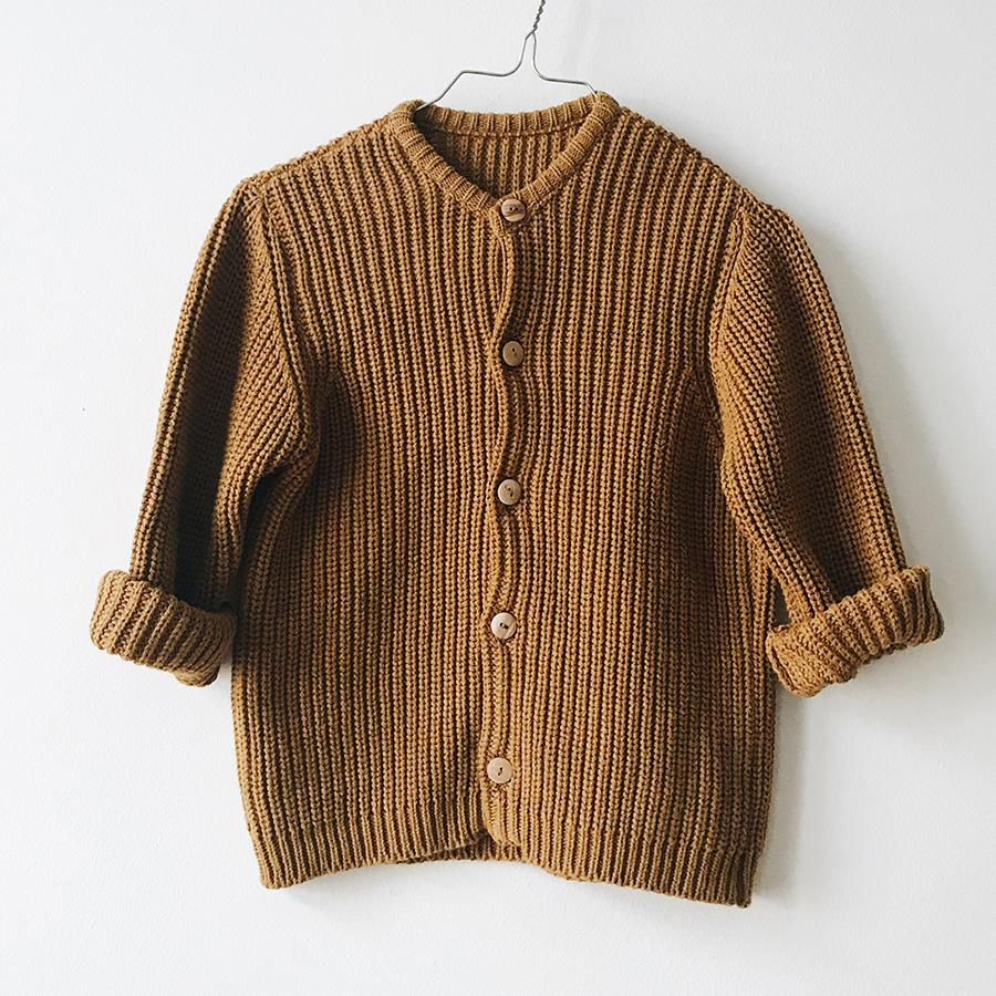 "Knitted Cardigan ""Golden"""