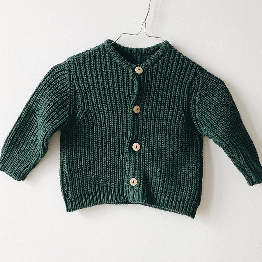 "Knitted Cardigan ""Moss"""