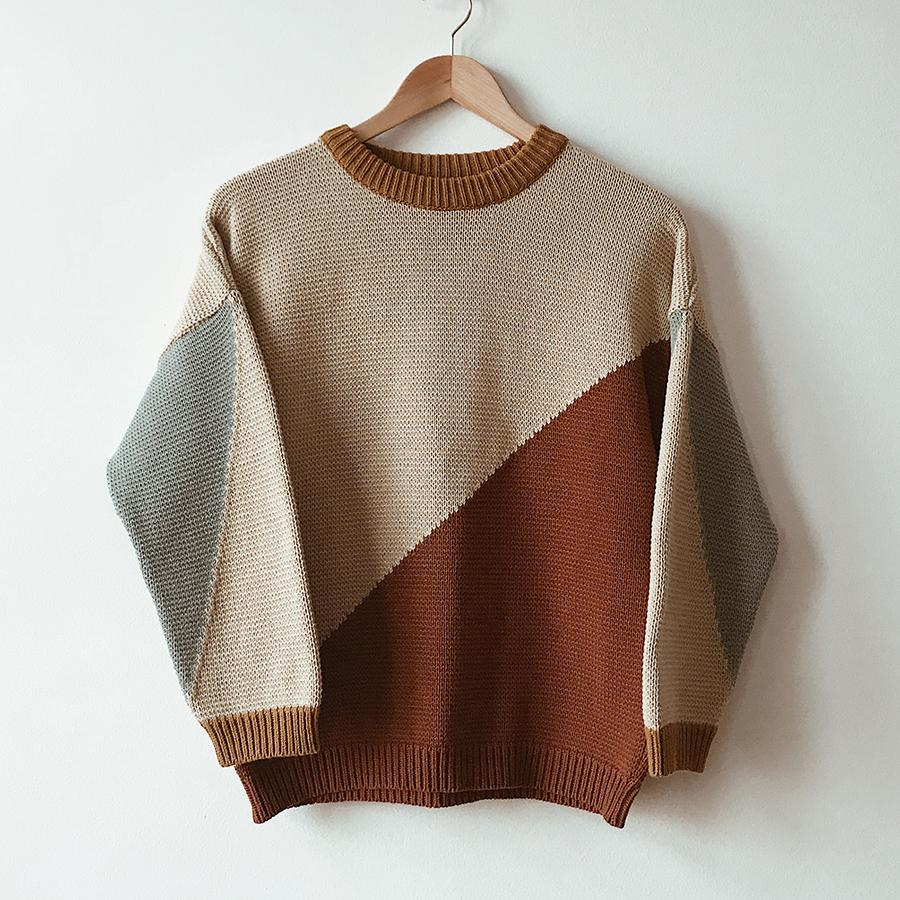"Knitted Pullover ""Night and Day"""