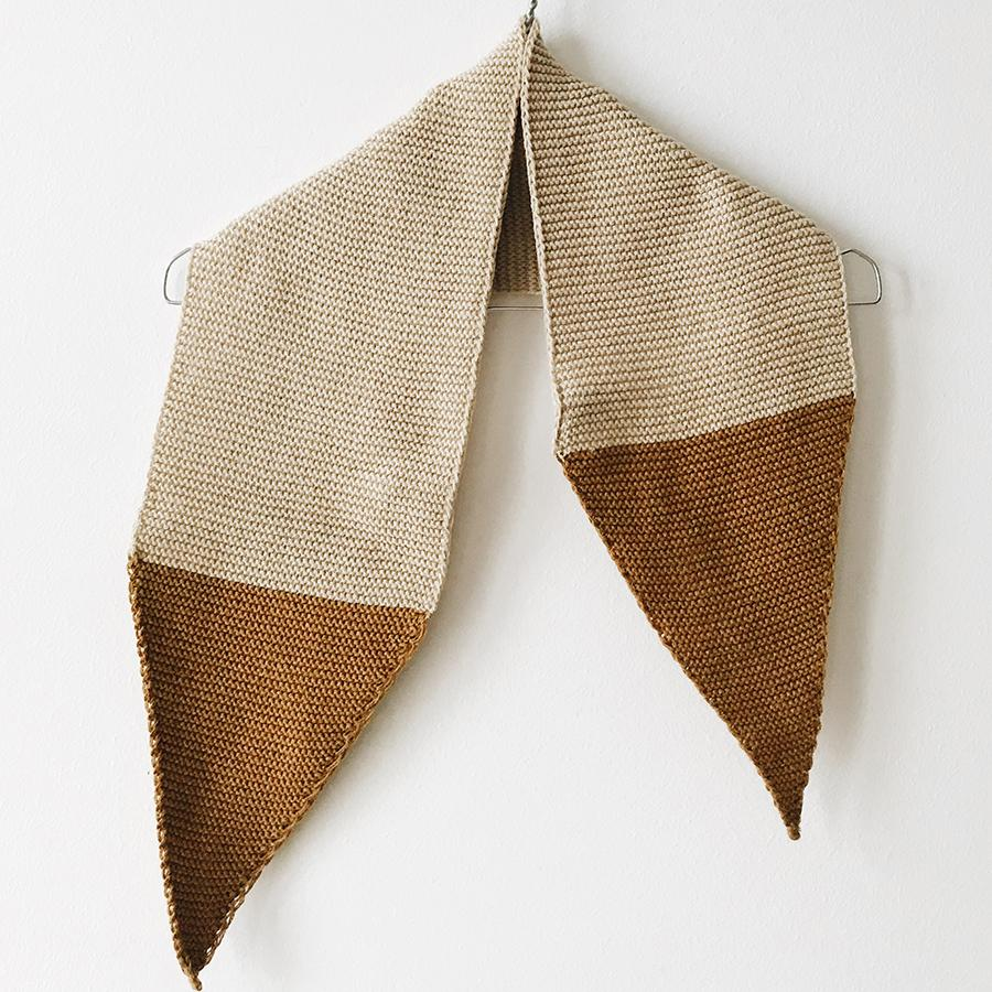 "Knitted Scarf ""Knit Block Golden / Dune"""