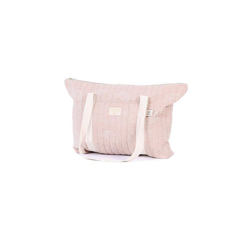 "Baby Changing Bag ""Paris White Bubble Misty Pink"""