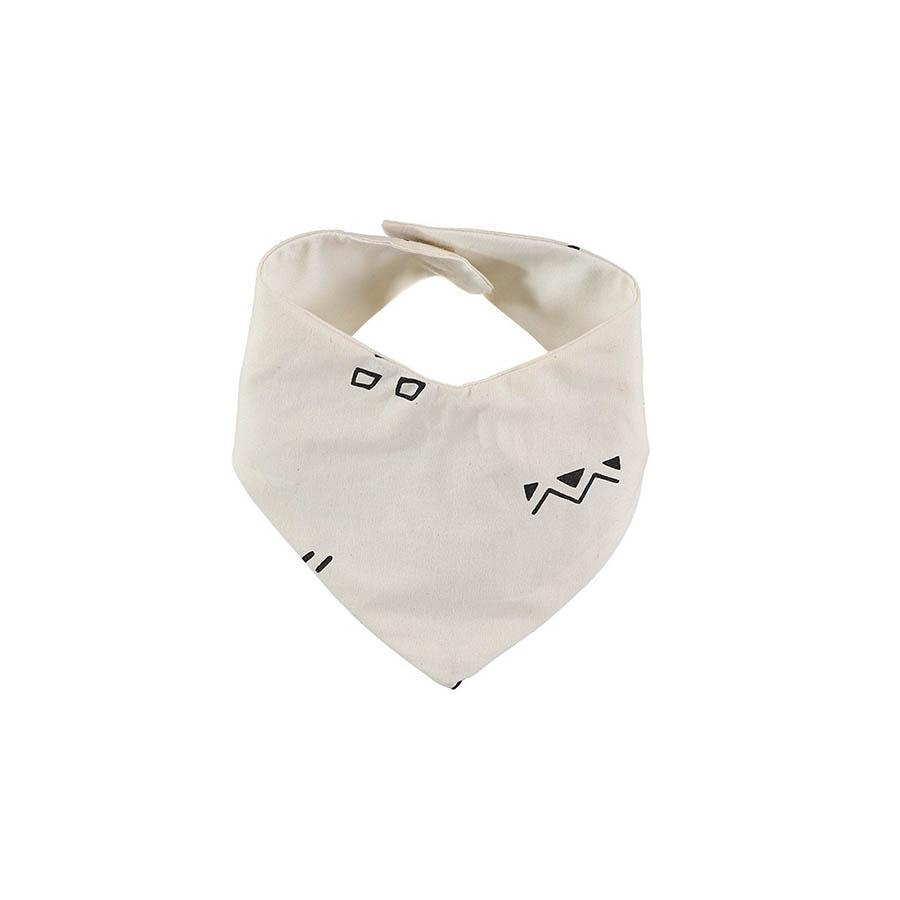 "Bandana Bib ""Lucky Black Secrets Natural"""