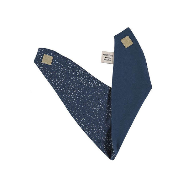 "Bandana Bib ""Lucky Gold Bubble Night Blue"""