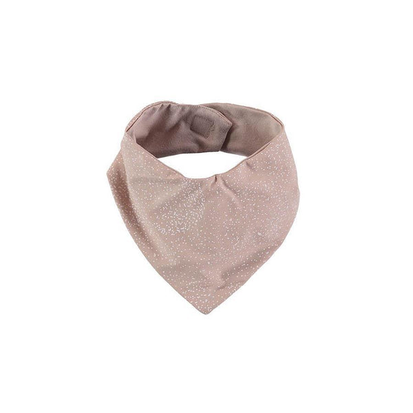 "Bandana Bib ""Lucky White Bubble Misty Pink"""