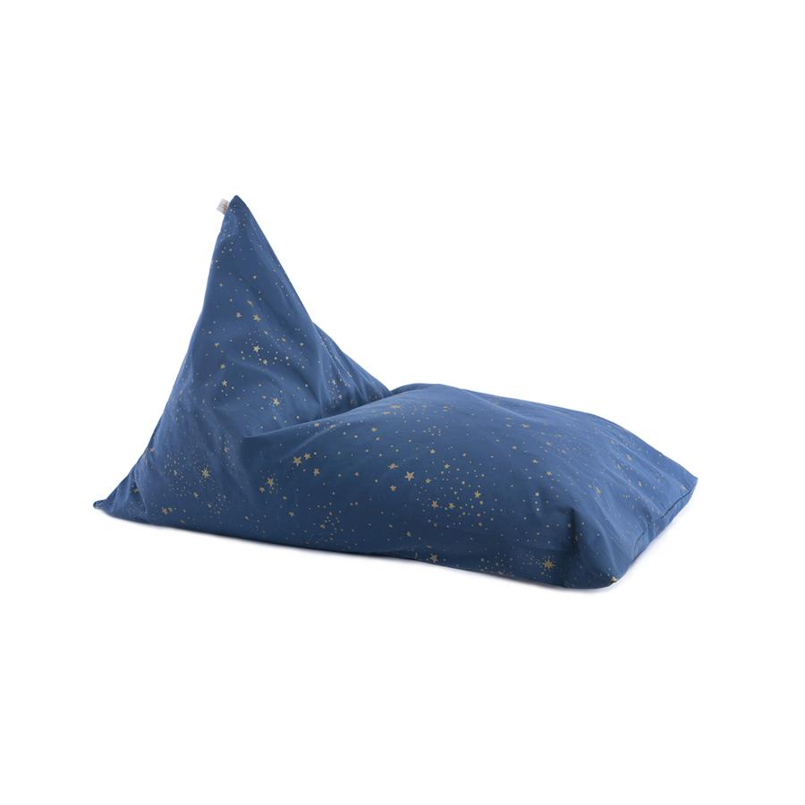 "Beanbag ""Essaouira Gold Stella / Night Blue"""