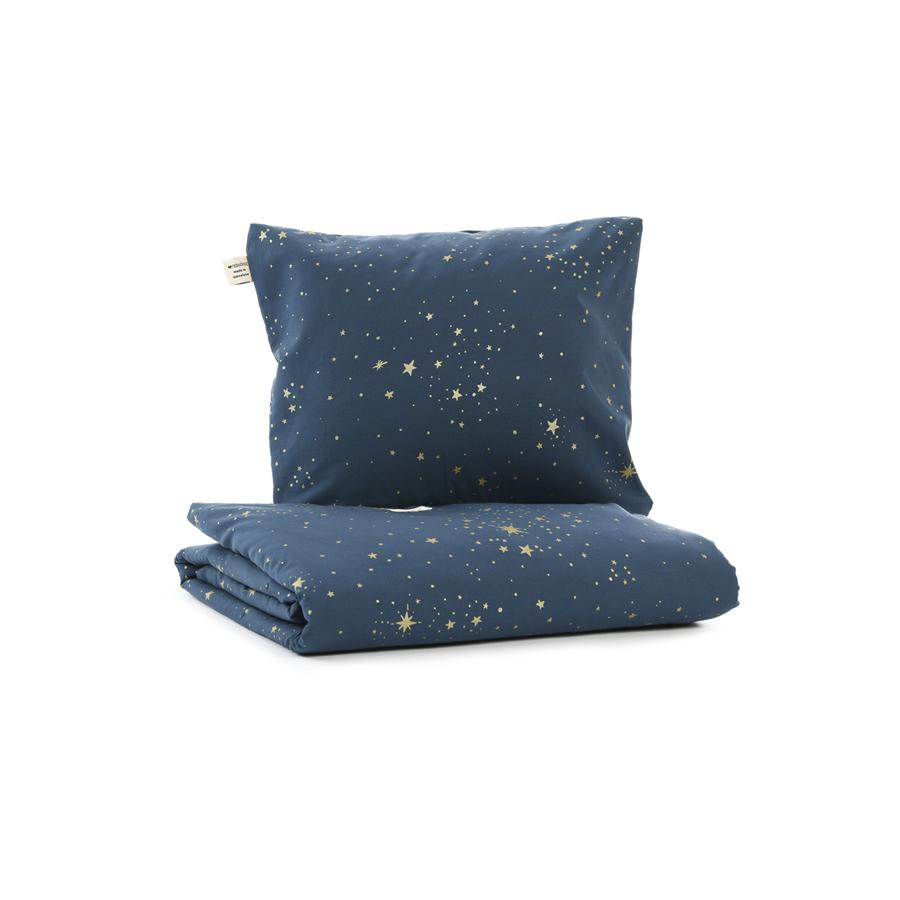 "Bed Linen ""Himalaya Gold Stella / Night Blue"""