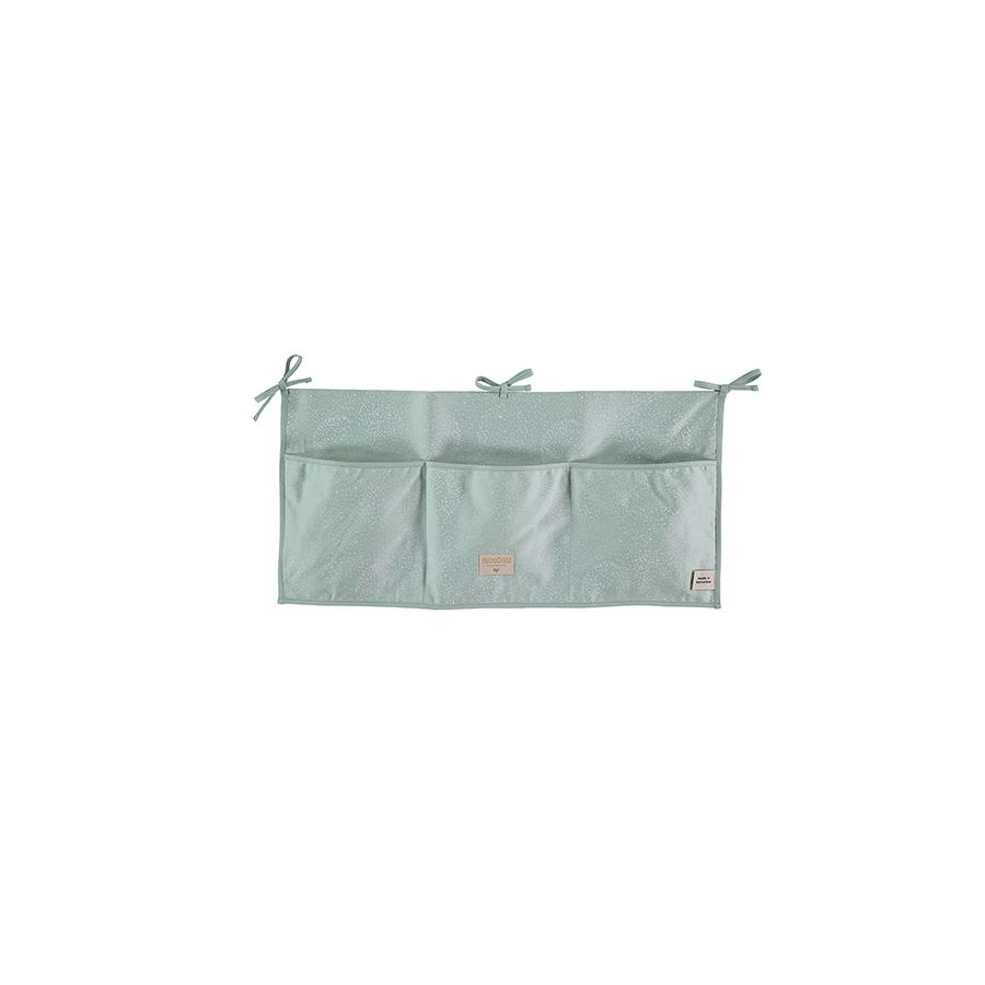 "Bed Pocket ""Merlin White Bubble / Aqua"""