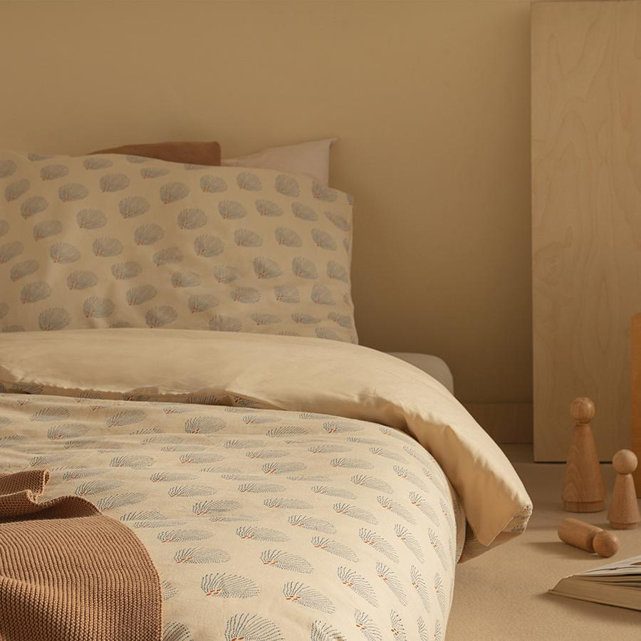 "Bed Linen ""Himalaya Blue Gatsby / Cream"""