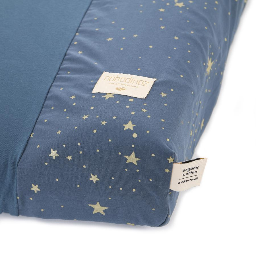 "Canging Cushion Cover ""Calma Gold Stella / Night Blue"""