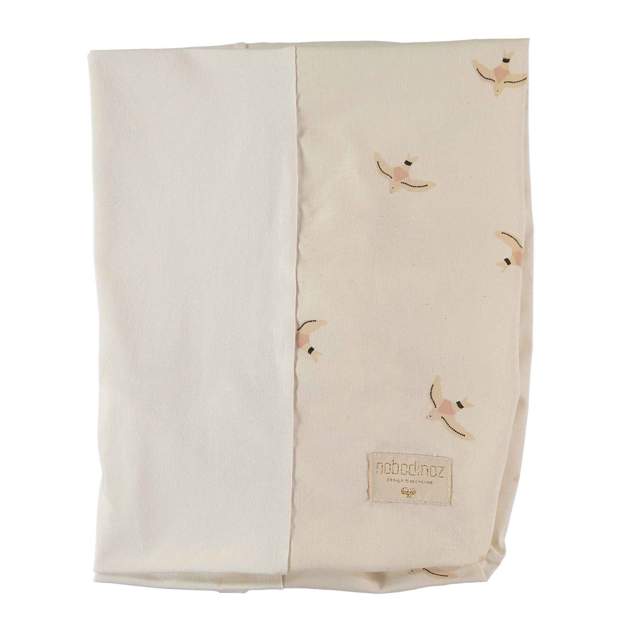 "Changing Cushion Cover ""Calma Haiku Birds / Natural"""