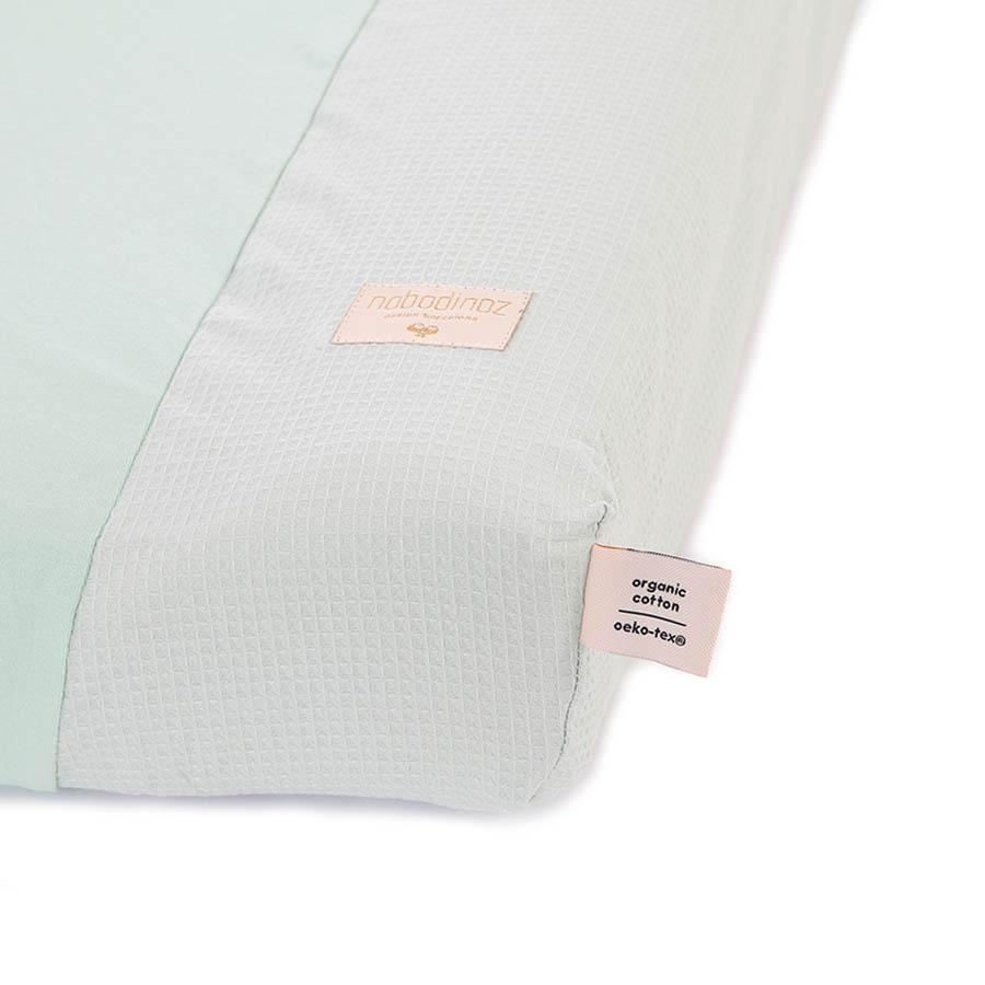 "Changing Cushion Cover ""Calma Honey Comb Aqua"""