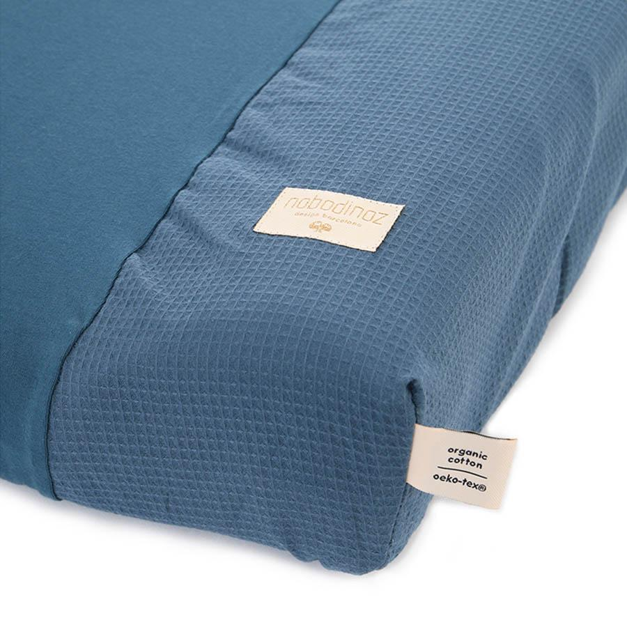 "Changing Cushion Cover ""Calma Honey Comb Night Blue"""