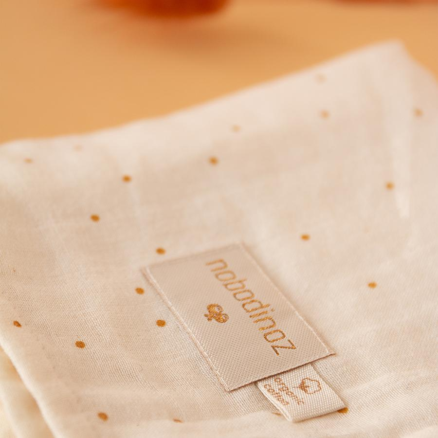 "Muslin Cloth ""Baby Love Honey Sweet Dots / Natural"""