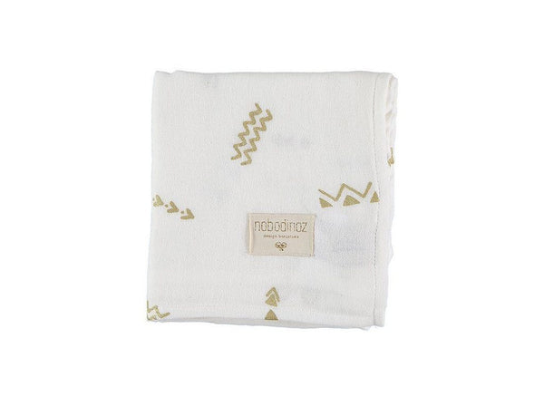 "Muslin Cloth ""Baby Love Gold Secrets / White"""