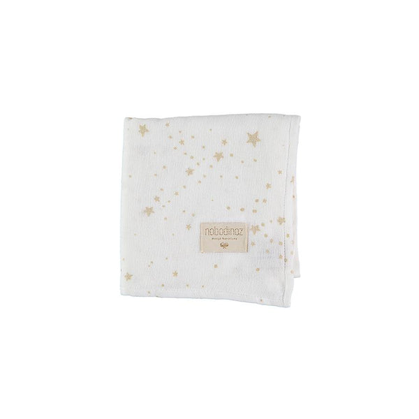 "Muslin Cloth ""Baby Love Gold Stella / White"""