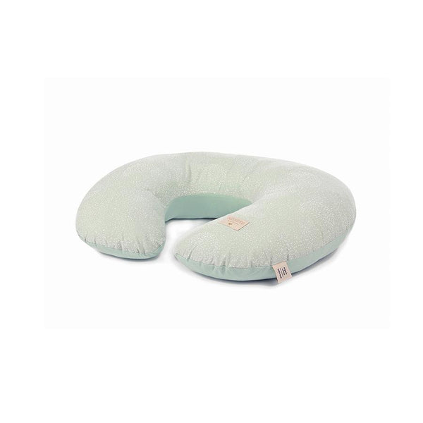"Nursing Pillow ""Sunrise White Bubble / Aqua"""