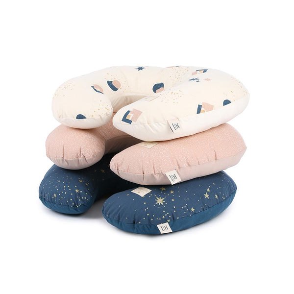 "Nursing Pillow ""Sunrise White Bubble / Misty Pink"""