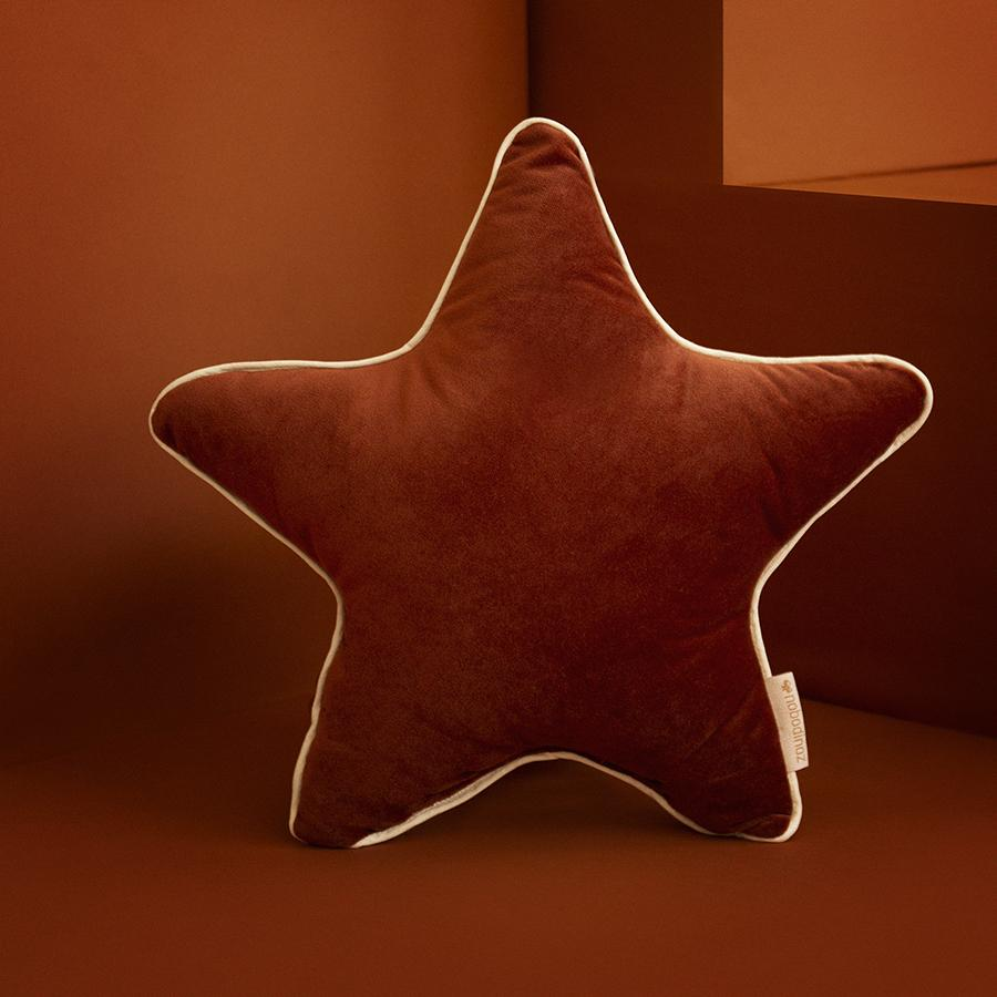 "Cushion ""Savanna Velvet Aristote Star Wild Brown"""