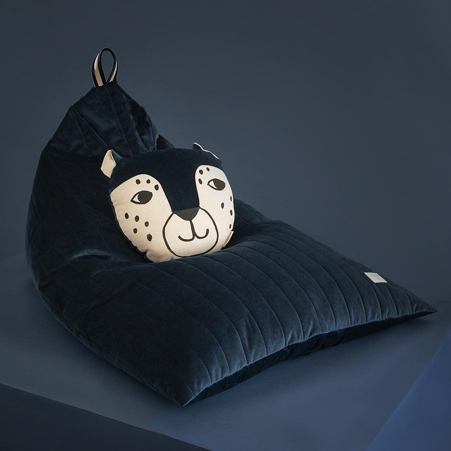 "Beanbag ""Savanna Velvet Essaouira Night Blue"""