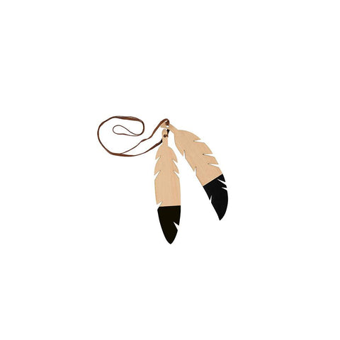 "Teepee Accessories ""Feathers Duo / Black"""