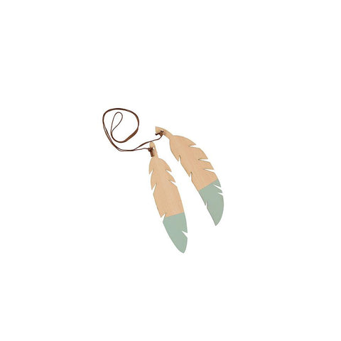 "Teepee Accessories ""Feathers Duo / Green"""