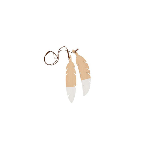 "Teepee Accessories ""Feathers Duo / White"""