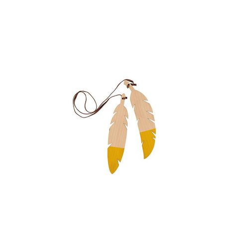 "Teepee Accessories ""Feathers Duo / Yellow"""
