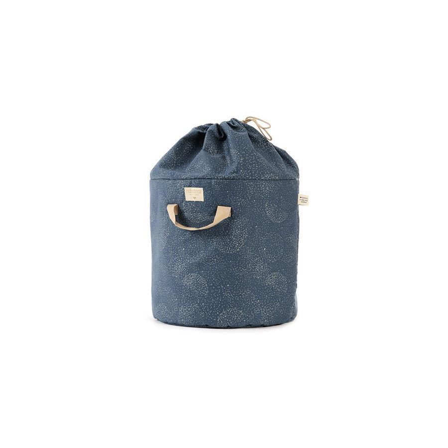 "Toy Bag ""Bamboo Gold Bubbles Night Blue"""