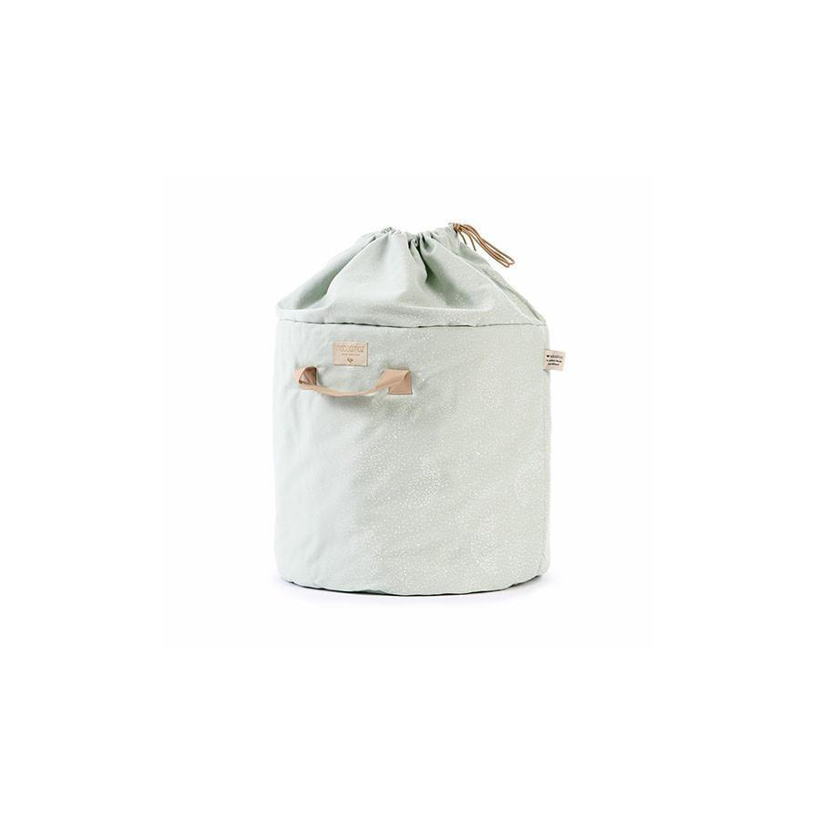 "Toy Bag ""Bamboo White Bubbles Aqua"""