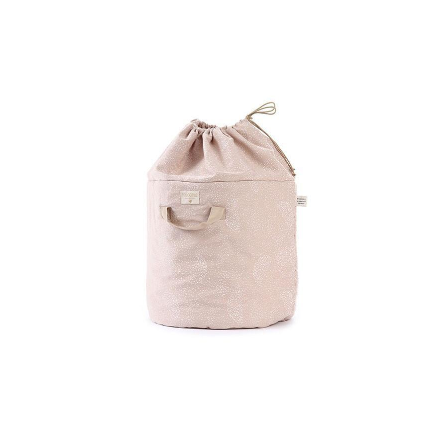 "Toy Bag ""Bamboo White Bubbles Misty Pink"""